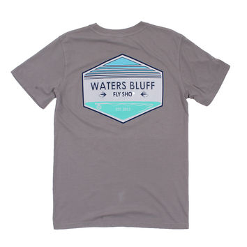 Fly Shop Tee Shirt in Granite by Waters Bluff