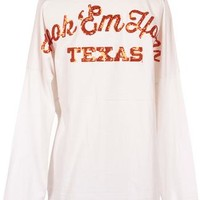 Texas Longhorn Sequin Spirit Shirt | University Co-op