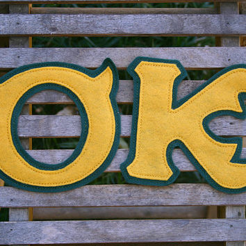 Oozma Kappa Greek Letters - Iron On or Sew On