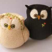 Eco Wedding Cake Topper I Do Owlcouple from by formydarling