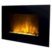 "Frigidaire Oslo 35"" LED Color Changing Fireplace with 2 Heat Settings and Remote Control"