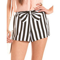 Bow-Front Striped Soft Short: Charlotte Russe