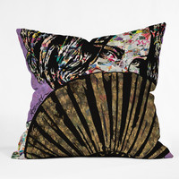 Amy Smith Playing Coy Throw Pillow