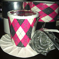 Argyle mini top hat, photo prop, birthday decoration, duct tape mini top hat