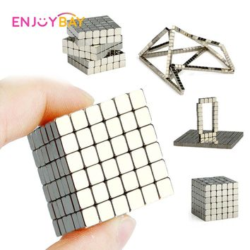 Enjoybay 216pcs Magnetic Magic Cube Toys Mini Magnet Balls Puzzle Metal Beads DIY Assemble Magcube Educational Kids Adults Toy