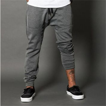 Men Gyms Pants Casual Elastic cotton Fitness Workout skinny Pants Men Sweatpants Trousers Jogger Pants