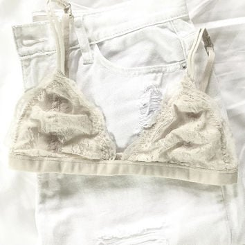 Perfect Scalloped Bralette - Off White