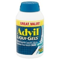 Advil Liqui-Gels Pain Reliever / Fever Reducer (Ibuprofen), 200 mg, 200 Liquid Filled Capsules 200 count - Walmart.com