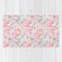 floral blush Rug by sylviacookphotography