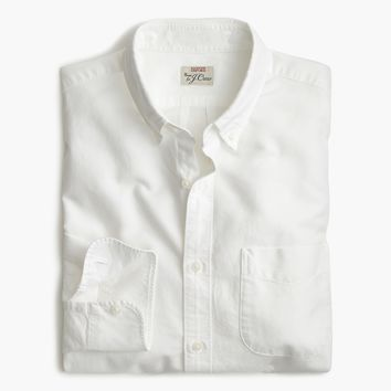 Untucked American Pima cotton oxford shirt with mechanical stretch