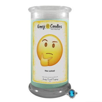 How curious! | Emoji Candle®