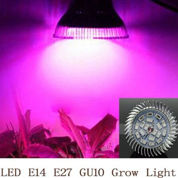 Full Spectrum LED Grow Light 18W E14 E27 GU10 Spotlight Lamp Bulb Flower Plant Greenhouse Hydroponics System 110V 220V Grow Box