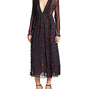 Thakoon - Beaded Floral Ruffle Dress - Saks Fifth Avenue Mobile