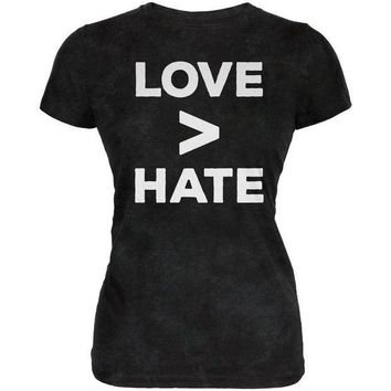 ICIK8UT Activist Love is Greater Than Hate Juniors Soft T Shirt