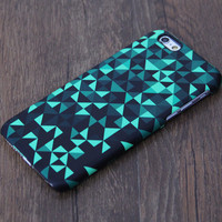 Mysterious Green And Black Geometric Pattern iPhone 6 Case/Plus/5S/5C/5/4S Case #644