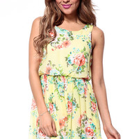 Garden Girl Draped Mini Dress