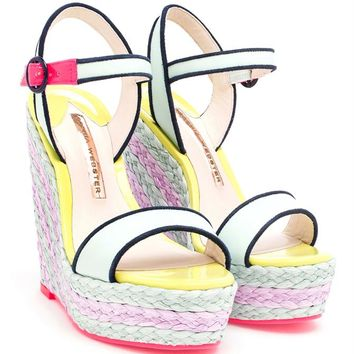 Multi-Coloured Striped Wedges - SOPHIA WEBSTER