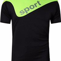 jeansian Men's Sport Quick Dry Short Sleeves T-Shirts Tees LSL188
