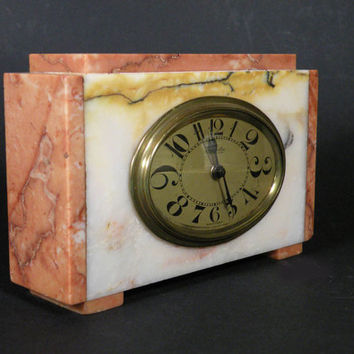 French marble clock, antique French, french vintage, clock french