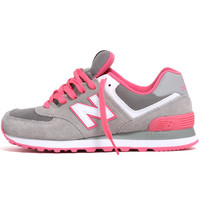 WL574CPF Women's Sneakers Light Grey / Pink Glo / White