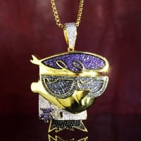 New Men's Iced Out Multi Colored Cartoon Character Pendant
