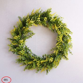 Rustic wall decoration fake wreath decoration