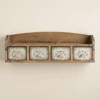 Wood and Metal Parker Wall Shelf - World Market