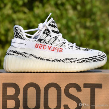 Sply-350 Zebra Adidas Yeezy 350 V2 Boost Bred Black Red Beluga Discount Cheap Men Women Running Shoes Sport Best Kanye West With Box