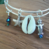 mermaid bracelet mermaid bangle bracelet