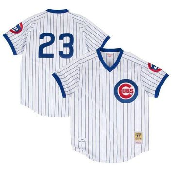 ONETOW Men's Chicago Cubs Ryne Sandberg Mitchell & Ness White Authentic Jersey