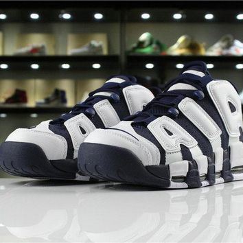 "Nike Air More Uptempo ""OLYMPIC"" 2016 RELEASE 414962 104 white mid nvy-mtllc gld-unvrst"