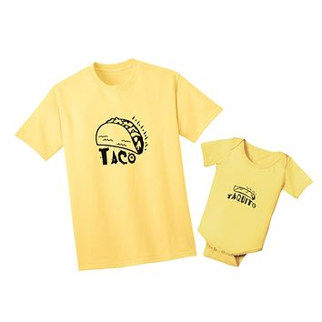 Taco, Taquito Father Son Fathers Day Matching Shirt Daddy and Baby Matching Fathers Day Shirt Taco and Taquito Matching Taco Shirt Set