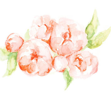 Peony Print - Flowers - Floral Painting - Floral Watercolor Painting - Home Decor - Watercolor - peonies - peony watercolor -  peony art
