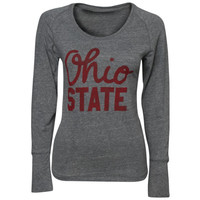J America NCAA Womens Script Ohio Remix Long Sleeve T-Shirt