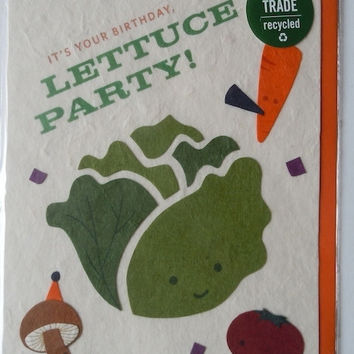 Lettuce Party Greeting Card