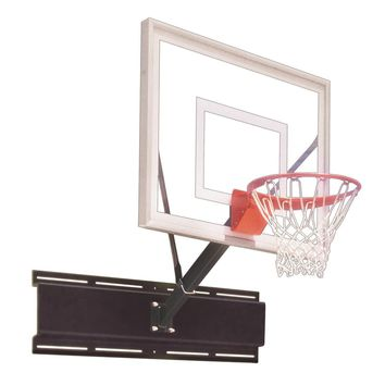 First Team Uni Sport III Fixed Height Wall Mount Basketball Hoop 54 inch Acrylic
