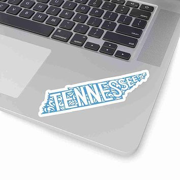 Tennessee State Shape Sticker Decal - Light Blue