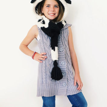 Cow Hat Hood Cowl Scarf Knit Toddler Child Adult // Caldwell the Cow Hood