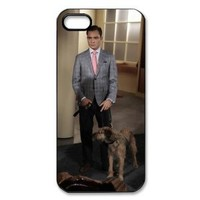 "Hard Case Skin for Apple iPhone 5 with ""Gossip Girl"" Theme Background - Gentleman Chuck Bass"