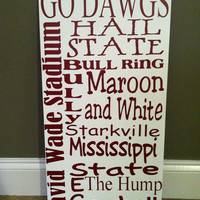 Mississippi State Subway Art Sign