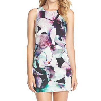 Women's FELICITY & COCO Floral Cotton Twill Shift Dress ,