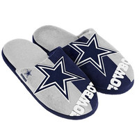 Dallas Cowboys  Official NFL Split Color Slide Men's Slippers