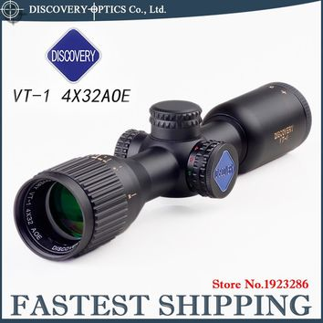 DISCOVERY VT-1 4X32 AOE Illuminated MIL-DOT Reticle Long Eye Relief for airgun rifle airsoft Pistol gun scope