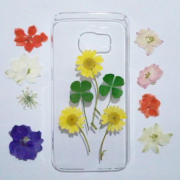 Clear Samsung Galaxy S6 cover, Samsung Galaxy note edge cover, galaxy note Edge cover, Galaxy S6 edge cover flower, samsung galaxy cover