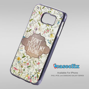 vintage floral Dont Touch For Smartphone Case