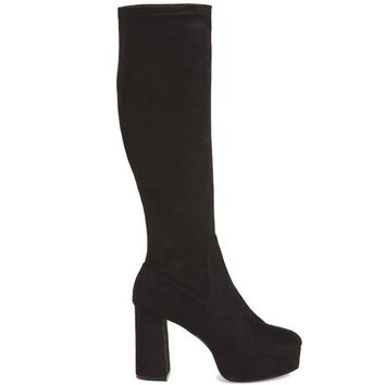 ONETOW Chinese Laundry Nancy - Black Suede Tall Platform Boot