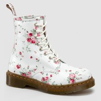 Dr Martens 1460 W Boot WHITE PORTLAND ROSE - Doc Martens Boots and Shoes