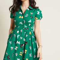 Summer School Cool Shirt Dress in Butterflies