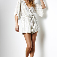 FAITHFULL THE BRAND Fox Printed Surplice Romper at PacSun.com
