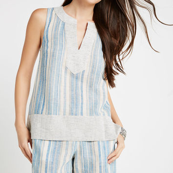 BCBGeneration - Variegated Striped Sleeveless Tunic